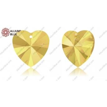 【スワロフスキー#6228】2粒 XILION Heart ペンダント 14.4x14mm クリスタル メタリック サンシャイン (001METSH)