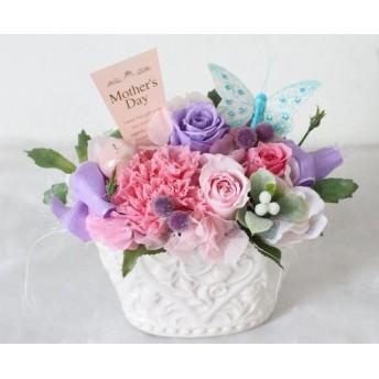 母の日フラワーギフト プリザーブド ラベンダー&ピンク