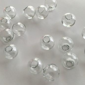 【アウトレット】 ‹透明›ガラスドーム 14mm×8コセット