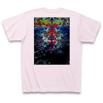 シンアキラ◆アート文字◆ロゴ◆ヘビーウェイト◆半袖◆Tシャツ◆ピーチ◆各サイズ選択可
