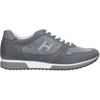 《セール開催中》HOGAN メンズ スニーカー&テニスシューズ(ローカット) グレー 8 革 / 紡績繊維