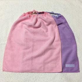 SALE‼️ 1枚ものタオルエプロン ピンクと紫の無地 2枚セット