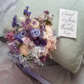 bouquet 'sweet Lavender' ナチュラルクラッチブーケセット