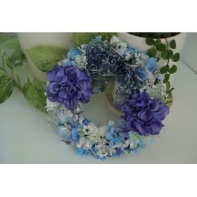 クリスマスリース~ホワイト&ブルー