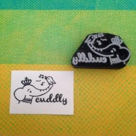 ゾウさん「cuddly」はんこ