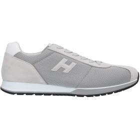 《セール開催中》HOGAN メンズ スニーカー&テニスシューズ(ローカット) ライトグレー 9.5 革 / 紡績繊維