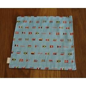 小さめダブルガーゼのハンカチ 国旗