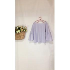 セール5600→4200コットン薄い紫のブラウス