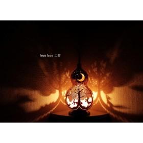 ひょうたんランプ-深夜の森Lサイズ
