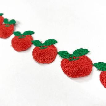 りんご レース【SM-3763-35mm-赤りんご】
