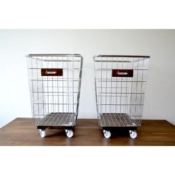 Laundry Wire Basket LLSize Caster Antique