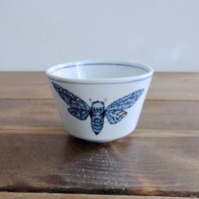 京焼/呉須染め付けのフリーカップ セミ