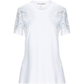 《セール開催中》ROBERTO CAVALLI レディース T シャツ ホワイト 38 コットン 100% / 金属 / クリスタル
