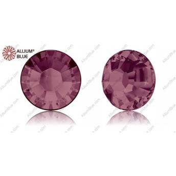 【スワロフスキー#2038】10粒 XILION Rose ラインストーン ホットフィックス SS8 バーガンディー (515) 裏面シルバーフォイル