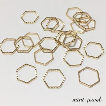 キラキラカット フレームパーツ 六角形