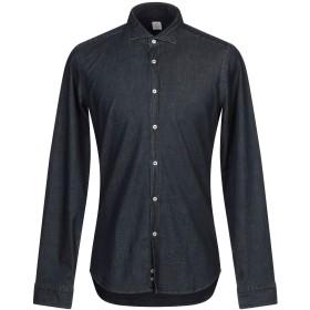《期間限定セール開催中!》MAURO GRIFONI メンズ デニムシャツ ブルー 41 コットン 98% / ポリウレタン 2%