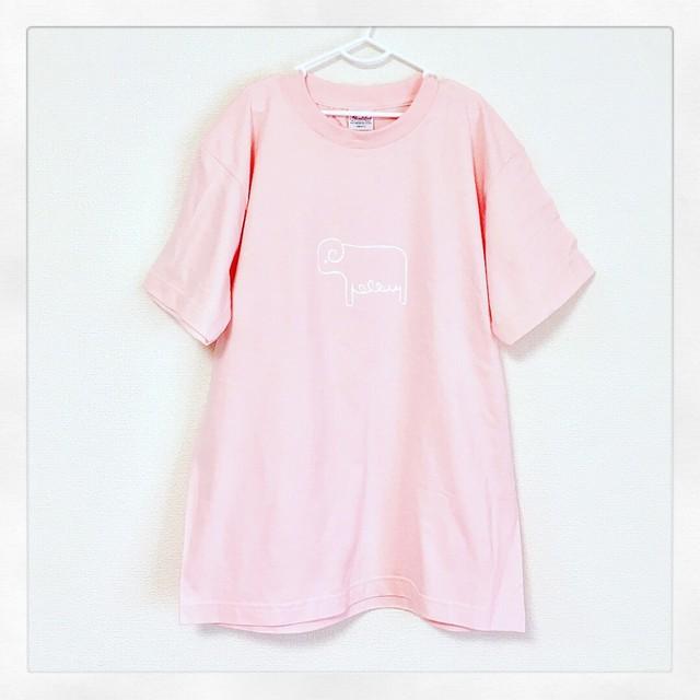 ひつじ Tシャツ ライトピンク