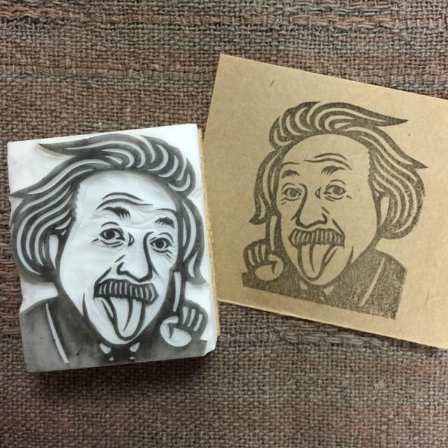 【現品】送料無料!アインシュタイン 消しゴムはんこ