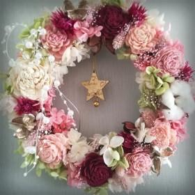 クリスマス*ピンクのリース