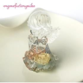 女の子の天使ちゃん オルゴナイト 幸福 ローズクォーツ&アクアマリン