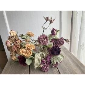 バラ ドライフラワー セット アソート 6 素材 花 バラの花 花材 スワッグ ブーケ アンティーク