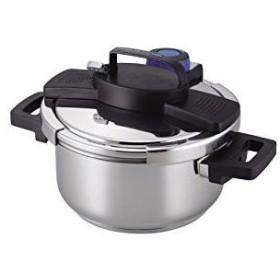 パール金属 圧力鍋 4.0L IH対応 3層底 ワンタッチレバー H-5388