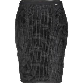 《セール開催中》FRACOMINA レディース ひざ丈スカート ブラック 44 ポリエステル 100% / ポリウレタン