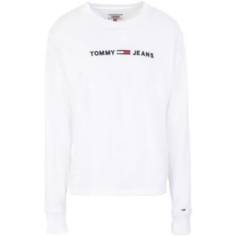 《セール開催中》TOMMY JEANS レディース T シャツ ホワイト L コットン 100%