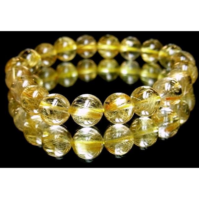 天然石の最高峰!金針水晶タイチンルチル10mm数珠ブレスレット!現品限りの大特価