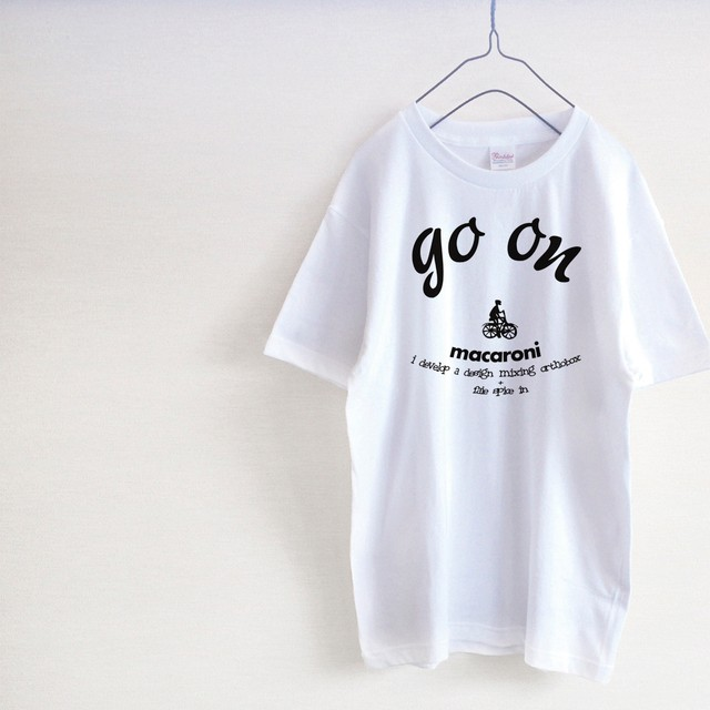 「go on」 macaroni Tシャツ