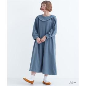 (merlot/メルロー)ビッグ襟ワンピース8015/レディース ブルー