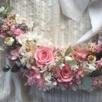 リースブーケセット* ヘッドドレス・ブートニアとの3点 結婚式 二次会 前撮り パーティなどに♪