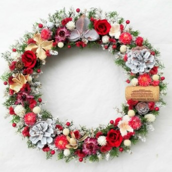 クリスマスの足音♪(プリザーブド&ドライフラワー)