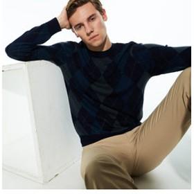 【LACOSTE:トップス】アーガイルクルーネックセーター