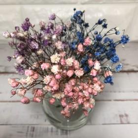 アンティークプリザ カスミ草 3色セット ピンク ブルー ライラック
