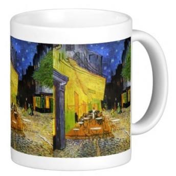 フィンセント・ファン・ゴッホ『 夜のカフェテラス 』のマグカップ 2