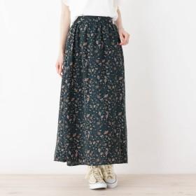 pink adobe(ピンクアドベ)/ペイズリープリントギャザースカート