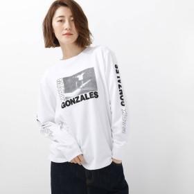 BASE CONTROL LADYS(ベースステーション:レディース)/MARK GONZALES マークゴンザレス 別注 フォトプリント 長袖 Tシャツ