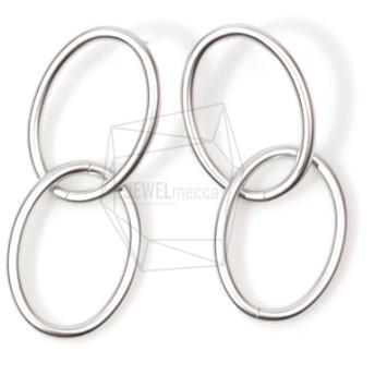 ERG-532-MR【2個入り】フープリンクピアス,Hoop Link Ear Post