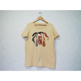 【送料無料】レディースTシャツ/手染め紅型のウツボカズラ/ネペンテス