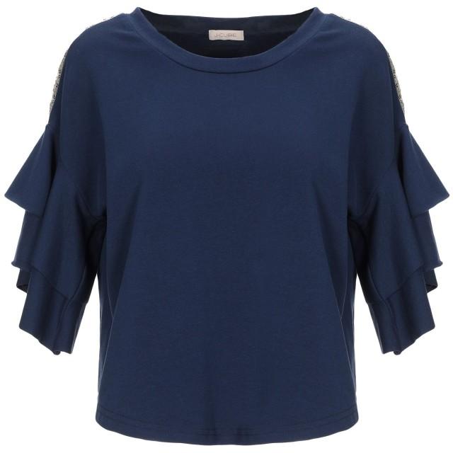 《セール開催中》J-CUBE レディース スウェットシャツ ダークブルー XS コットン 95% / ポリウレタン 5%