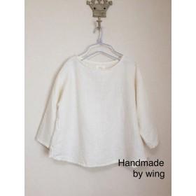 ナチュラルなリネン服*ホワイト