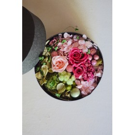 *母の日の贈り物: プリザのBox Flower* パステルピンク(3)