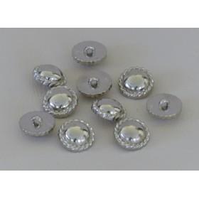 プラスチックボタン 10個組 シルバー