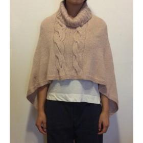 手編み 縄編み柄 ポンチョ