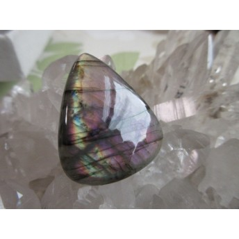 SALE! パープル 虹入り ラブラドライトルース 天然石ルース 19