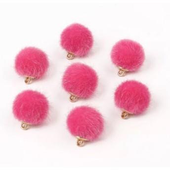 【10個入り】ローズピンク ファーボール