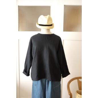 リネンプルオーバーシャツ(black)