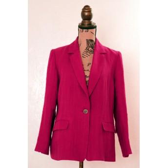 『春草花』リネンのテーラードジャケット