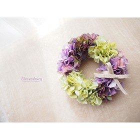 ハイドランジアのsimpleリース ~ green & purple